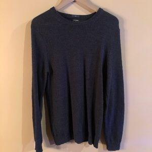 J. CREW - Blue Crewneck Wool Sweater Size Medium M